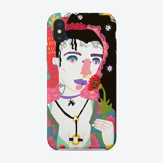 Girl With Black Hair Phone Case