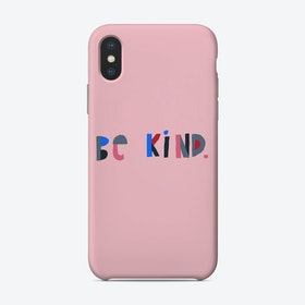 Be Kind Pink Phone Case