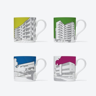 1930s Modernist London Homes Mugs - set of 4