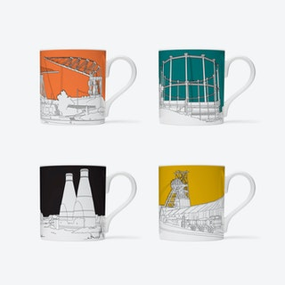 British Industry is Dead, Long Live British Industry Mugs - set of 4