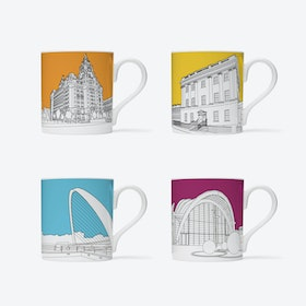 Where Have You Been? Mugs - set of 4