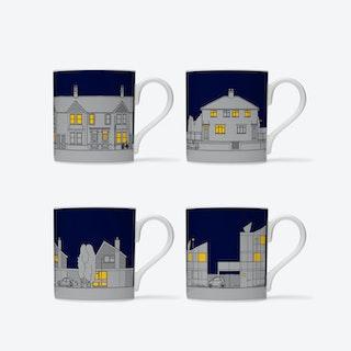 Eclectic Avenue Mugs - set of 4