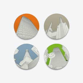 Looking up in London Coasters - set of 4
