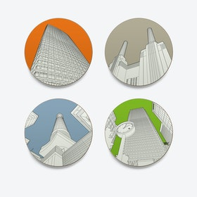 Looking up in London Placemats - set of 4
