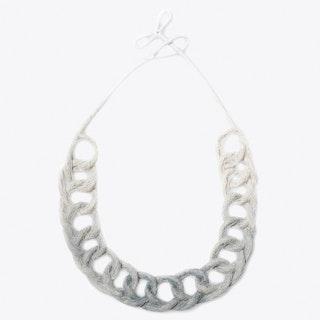 Dyed Loop Necklace in Pastel Grey