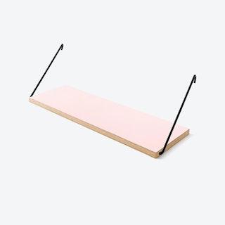 The Shelf in Pink Laminate w/ Black Brackets