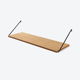 The Shelf in Oak w/ Black Brackets