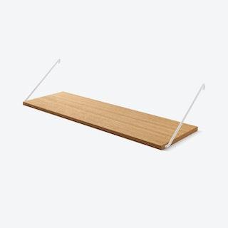 The Shelf in Oak w/ White Brackets