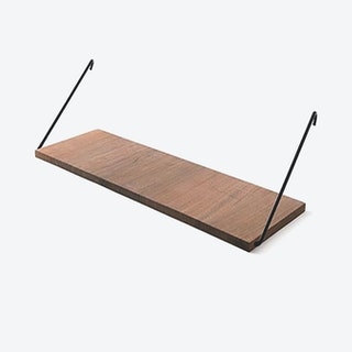 The Shelf in Walnut w/ Black Brackets