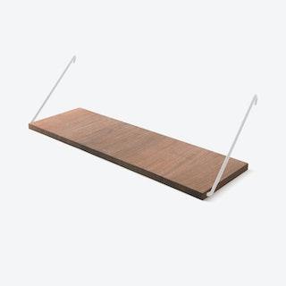 The Shelf in Walnut w/ White Brackets