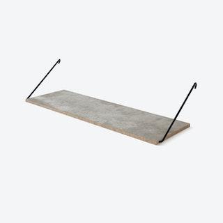 The Shelf in Concrete w/ Black Brackets
