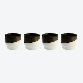 Hasami Dark Brass Cups (set of 4)