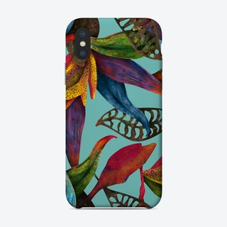 Rainfall Turquoise Phone Case