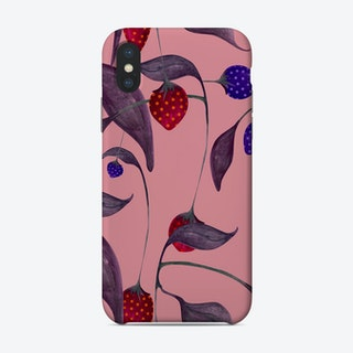 Elephant In A Strawberry Field Pink Phone Case