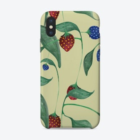 Elephant In A Strawberry Field Phone Case