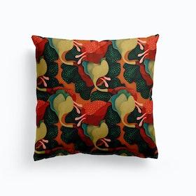 Floomy Green Flower Cushion