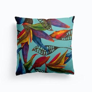 Rainfall Turquoise Cushion