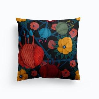 Edible Flowers Cushion