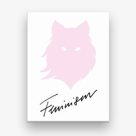 Feminism Pink White Canvas Print