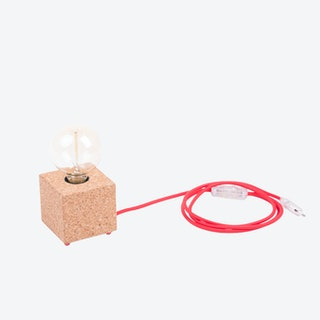 MOCO Table Lamp in Light Cork w/ Red Cord