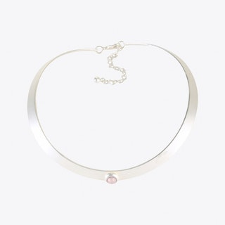 Rose Water Opal Choker in Silver