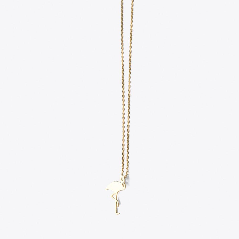 Gold Flamingo Pendant