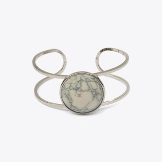 Howlite Circle Open Bangle