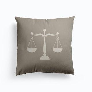 Libra Canvas Cushion