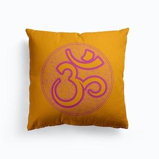 Om Mandala Canvas Cushion