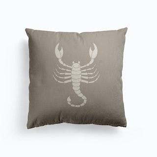 Scorpio Canvas Cushion