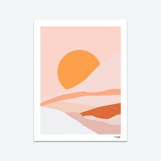 Minimal Summertime Art Print