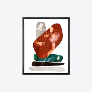 Shape and Colour Couple Canvas Print