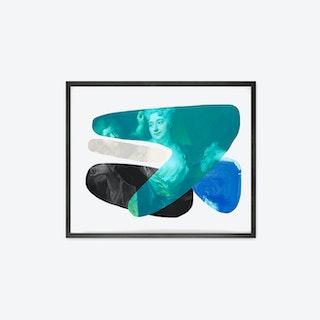 Shape and Colour Blue Canvas Print