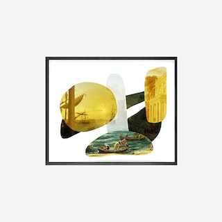 Shape and Colour Yellow Canvas Print