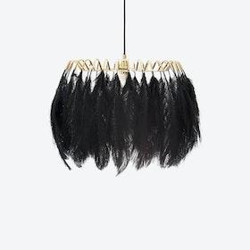 Feather Pendant Light in Black