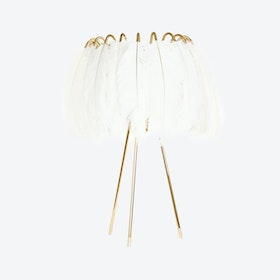 Feather Table Lamp iin White