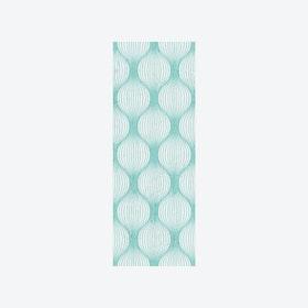Geometric Bulbs Wallpaper in Aquamarine