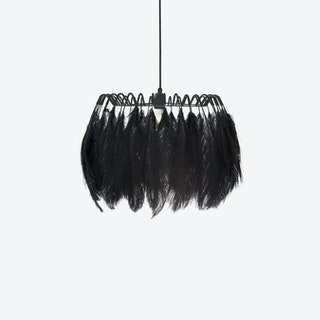 All Black Feather Pendant Light