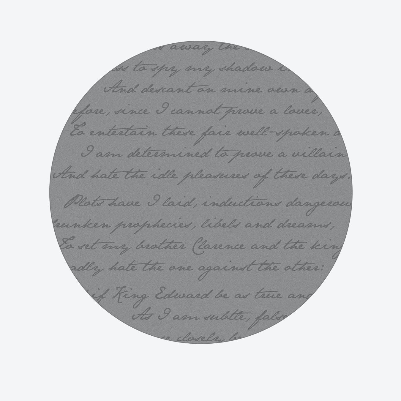 Richard Iii Round Rug Grey