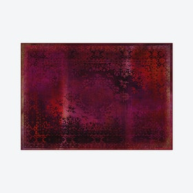 Kashan Remix Rug in Red