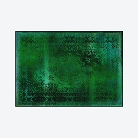 Kashan Remix Rug in Green