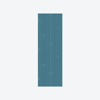 Woodgrain Outline Wallpaper in Petroleum & Aquamarine