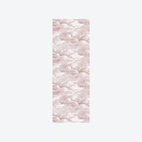 Clouds Wallpaper in Dusty Pink