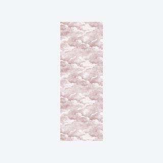 Clouds Wallpaper in Dusty Pink