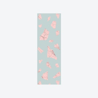 Marble Fragment Wallpaper in Pink & Blue