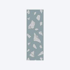 Marble Fragment Wallpaper in Green & Grey