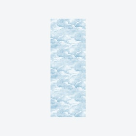 Clouds Wallpaper in Smokey Blue