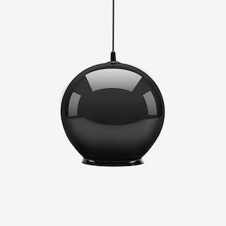 Cauldron Pendant Light in Gloss Black