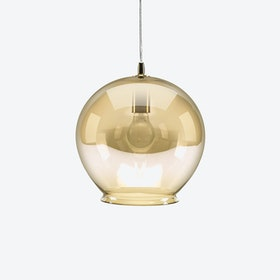 Cauldron Pendant Light in Amber Tint