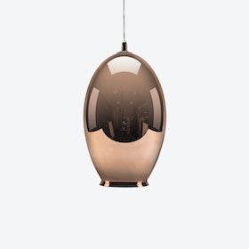 Vase Pendant Light in Mirror Copper